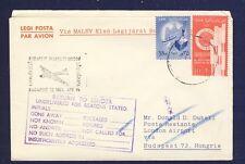 45461) MALEV FF Budapest - London 14.4.61, cover Brief ab Ägypten Egypt RR!