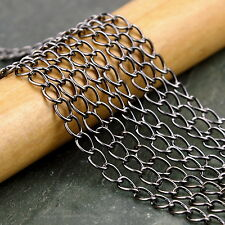 4x2mm Gunmetal Black Plated Link Chains c210c (5ft)