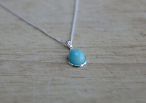 Sterling silver and Peruvian Amazonite necklace