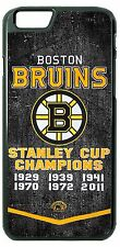Boston Bruins Championship Phone Case Cover Fits iPhone 7 6 Samsung 7 6 HTC LG