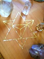 Merkaba Gold Leaf Tetrahedron Sticker