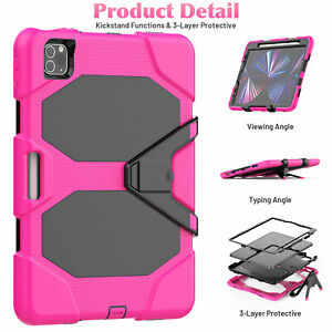 For iPad Pro 9.7 5th 6th 2018 2/3/4/Air 2 Shockproof Stand Case Screen Protector