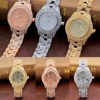 Luxury Metal Bracelet Quartz Bracelet Gold Bracelet Crystal Diamond Wrist Watch