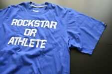 "NIKE ""ROCKSTAR OR ATHLETE "" DRI-FIT BLUE LOGO CREWNECK COTTON T-SHIRT SIZE: XL"