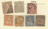 1800's SWITZERLAND STAMPS WITH GREAT CD SON CANCELS POSTMARKS