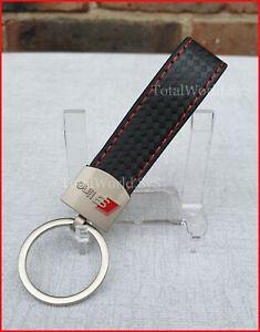 Faux Leather Keyring for AUDI S Line, Keychain ☆UK SELLER☆