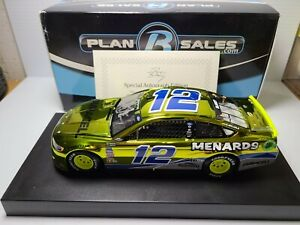 2018 Ryan Blaney #12 Menard's Darlington Autographed Color Chrome 1:24 NASCAR