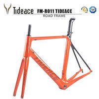 2021 Tideace Carbon-Rennradrahmen Cycling Road Racing Bicycle Frame BSA Orange