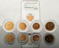 DENMARK RARE LOT 5 X SOLID GOLD COINS 21.6 KT SCARCE MINTAGE 31.36GRAM NGC MS64