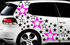 93-teiliges Sterne Star Auto Aufkleber Set Sticker Tuning WANDTATTOO Blumen xxx