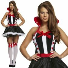 Ladies Adult Sexy Fairytale Queen Of Hearts Fancy Dress Costume Book Week Outfit