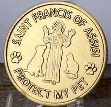 Saint Francis Of Assisi Patron St Of Pets Bronze Token Coin Medallion Protect