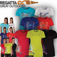 Regatta T Shirt Womens Fingal Walk Outdoor Running Gym Sports Active Hiking Top