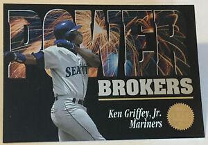 1994 Leaf Power Brokers Insert - Ken Griffey Jr - #5 - Seattle Mariners - NrMt+