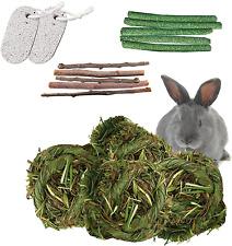 New listing Hamiledyi Bunny Grass Ball Toys,Chew Ball Timothy Small Animal Activity Play Che