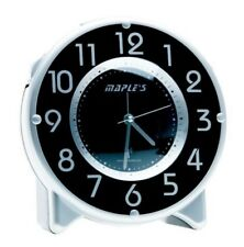 Maple's Radio-Controlled Atomic Table Bed Stand Alarm Clock Silver/Black TRC017