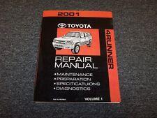 2001 Toyota 4Runner Workshop Shop Service Repair Manual Vol1 SR5 Limited 3.4L V6