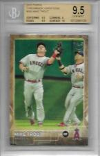 2015 Topps MIKE TROUT LA Angels Throwback Variation # 300 Beckett 9.5 GEM MINT