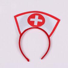 Halloween Costume Naughty Nurse Hat Headband Fancy Dress Up Cosplay Hairband