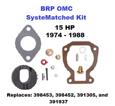 BRP OMC SysteMatched Johnson Evinrude 15 HP Carburetor Carb Kit 1974-1988