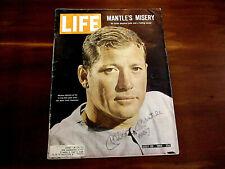MICKEY MANTLE # 7 NEW YORK YANKEES HOF SIGNED AUTO 1965 LIFE MAGAZINE JSA LOA