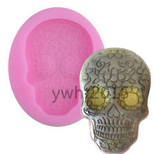 Flower Gothic Skull Silicone Mould Halloween Fondant Cake Molds Sugar Cupcake