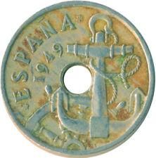 COIN / SPAIN / 50 CENTIMOS 1949     #WT6388