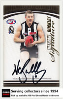 2007 Herald Sun AFL Trading Card Authentic Signature Card S1 Nathan Buckley-RARE