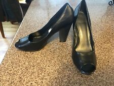 Womens Fioni Black Career/Dress Shoes Size 11-Display Shoe-NWOB-Open Toed