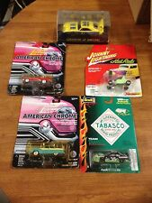 5 car lot Johnny Lightning, Revell & Legends Of Racing Cars