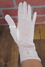 1 mesh dress glove FAST ship RIGHT VINTAGE small size dainty feminine OFF WHITE