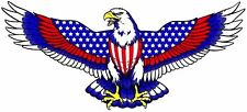 """4"""" FLYING EAGLE WINGS USA FLAG  TOOL BOX HELMET BUMPER STICKER DECAL USA MADE"""