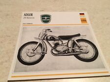 Carte moto Adler 250 Motocross 1956 collection Atlas Motorcycle Allemagne