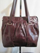 Hobo International Large Dark Brown Leather Shoulder/Satchel/Tote Handbag