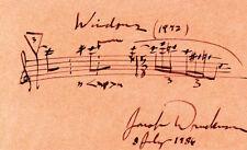 JACOB DRUCKMAN - AUTOGRAPH MUSICAL QUOTATION SIGNED 07/08/1986