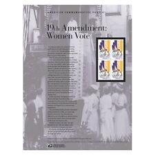 USPS New 19th Amendment: Women vote American Commemorative Panel