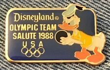 Donald Duck Disney Pin~Retired~Disneyland~Salute~Bowling~Olympic Seoul~1988