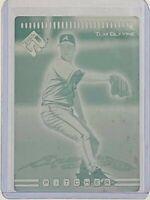 1/1 TOM GLAVINE 1999 PACIFIC PRIVATE STOCK PRINTING PLATE #31 ATLANTA BRAVES HOF