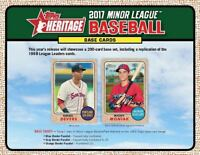 2017 TOPPS HERITAGE MINOR LEAGUE BASEBALL CARD LOTS MINORS YOU PICK LOTS