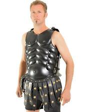 Morris Costumes Men's Skirted Muscle Gauge Antiqued Steel Black Armor. WSIR80712
