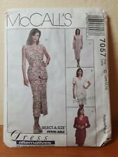 McCALL'S  pattern 7057-LADIES jacket, vest, dress, 2 skirt lengths sz 10-12-14