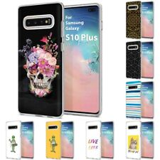 Thin Gel Design Phone Case Cover for Samsung Galaxy S10 Plus,Skull Stylish Print