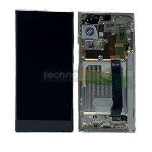 Genuine Samsung Note 20 Ultra (N986B, N985F) LCD Assy +Frame White GH82-23596C