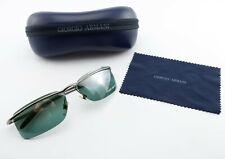 Giorgio Armani Sunglasses 1528 1144/6c Rimless Gunmetal Occhiali Italy+Case