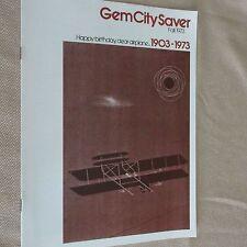 Rare Wright Brothers 1903-1973 Anniversary of 1st Flight Magazine Dayton OH.