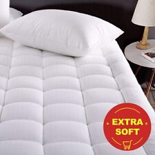 Pillow Top Mattress Cover Full Size Bed Topper Pad Soft Hypoallergenic Cooling
