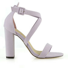 Womens Strappy Block Heel Sandals Ladies Peep Toe Party Prom Bridal Shoes Size