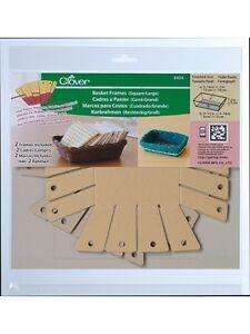 Clover 8424: Korbrahmen / Basket Frames, eckig / groß, 2 Stück-Packg (4,45/St.)