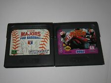 Sega Game Gear Lot Of 2 Games - GP Rider, The Majors