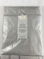 JOHN LEWIS Single 400 Thread Count Duvet Egyptian Pillowcase Cool Grey SET NEW